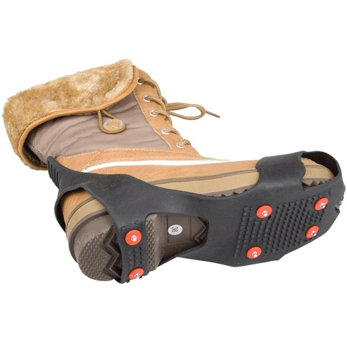nijdam winter-grip anti-slip zool - grip studs - zwart/rood